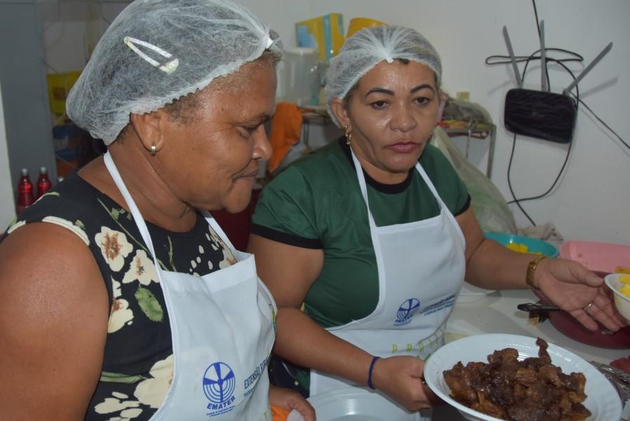 Moradoras da Serra Vermelha participaram de curso de beneficiamento de carnes
